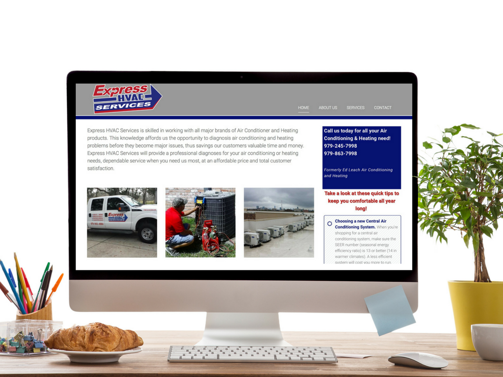 Express HVAC Services  Designed by Inspirational Web Designs by Teresa
