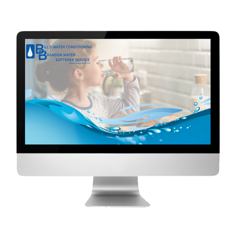 Bill's Water Conditioning & Brandon Water Softener created by Web Designs by Teresa