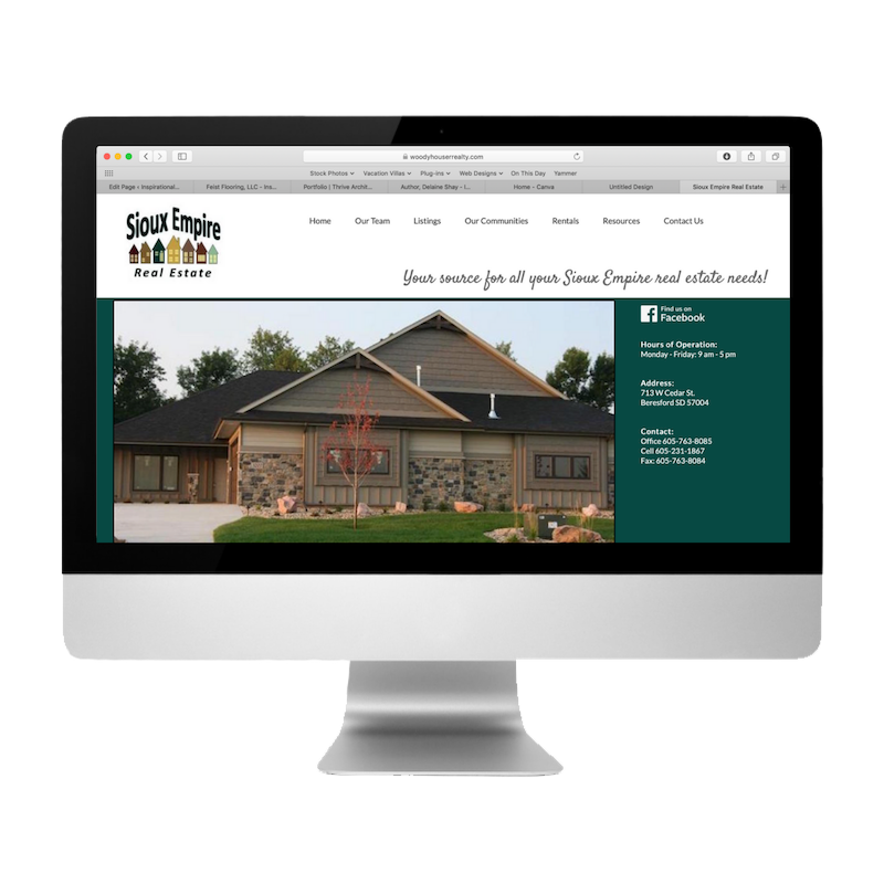 Sioux Empire Real Estate Website Created by Web Designs by Teresa