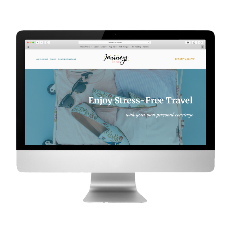 Journeys by Jen, created by Web Designs by Teresa