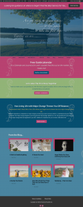 Positively Powerful Life Website Created by Web Designs by Teresa
